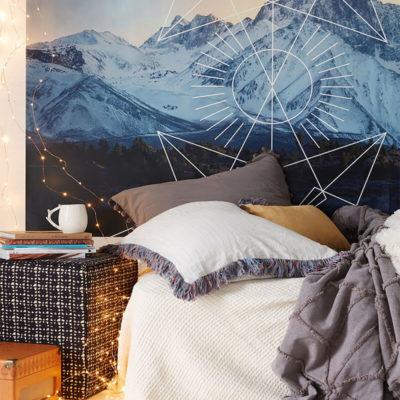 Фотообои с картинкой гор со снегом