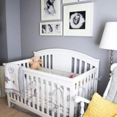 Фотогалерея над детской кроваткой