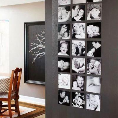 Красивая стена из чб фото