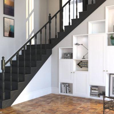 Интрерьерное решение под лестницей