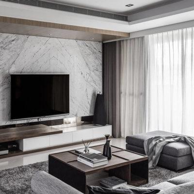 Уютное место для просмотра телевизора