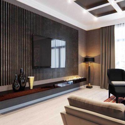 Красивый дизайн интерьера с телевизором